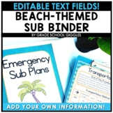 Editable Substitute Binder Beach Theme