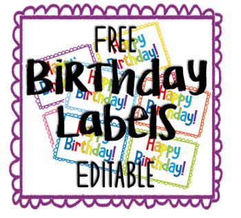 Free Editable Birthday Labels