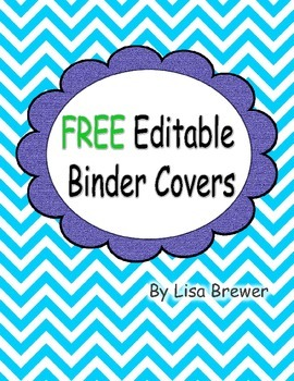 free editable chevron style binder covers by marvelous munchkins