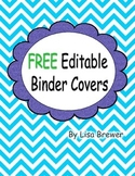 Free Editable Chevron Style Binder Covers