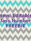 Free Editable Class Numbers