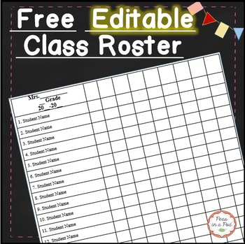 Class List Template Editable Worksheets Teaching Resources