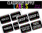 Free & Editable Classroom Supply Labels