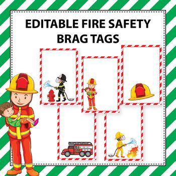 Free Editable Fire Safety Brag Tag