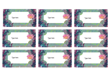 Free Editable Flower Labels