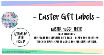 Free editable gift tags easter egg theme by teaching snapshot tpt free editable gift tags easter egg theme negle Image collections