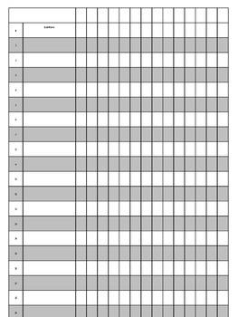 Free Editable Grade Sheet