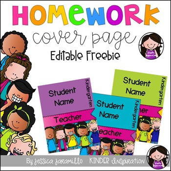 Free Editable Homework Folder Covers
