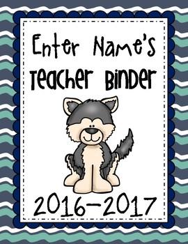 Free Editable Husky Binder Cover