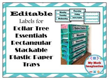 Free Editable Labels for Dollar Tree Stackable Paper Trays