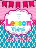 Free Editable Lesson Plan Cover