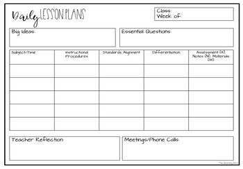 Adaptable image inside free printable special education lesson plan templates