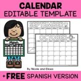 Editable Monthly Calendar 2021-2022