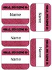 Free Editable Name Tags
