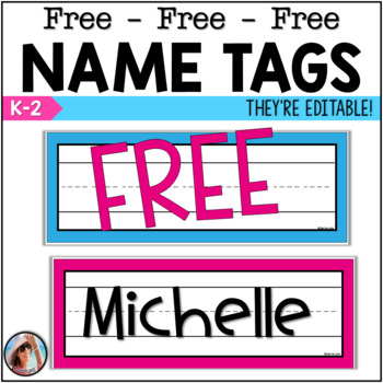 Free Editable Name Tags and Labels (8)