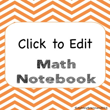 Free Editable Notebook Covers