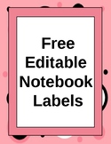 Free Editable Notebook Labels