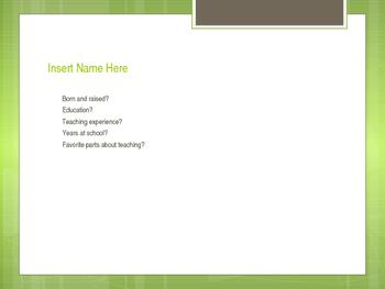 Free Editable Parent Night Powerpoint