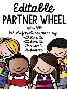 Free Editable Partner Wheel