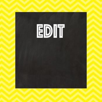 Free Editable Pinterest Board Covers - Chalkboard Chevron Style