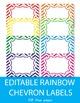 Free Editable Rainbow Chevron Labels