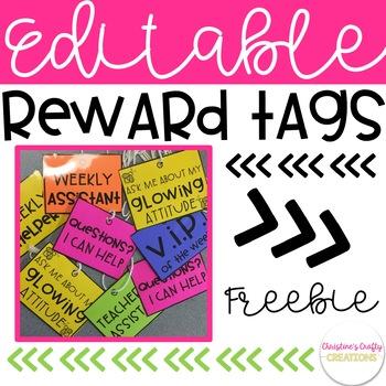 Free Editable Reward Tags
