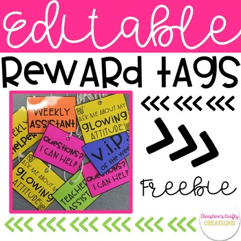 Free Editable Reward Tags