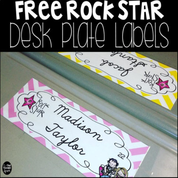 Free Editable Rockstar Desk Labels
