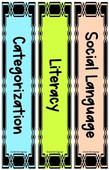Speech and Language Organization Free Editable SLP Binder Spines