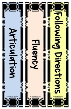 Speech Therapy | SPED | Organization | Free Editable Binder Spines