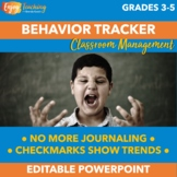 Free Editable Student Behavior Tracker - Checklist for Ind