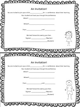 Free Editable Student Led Conference Forms