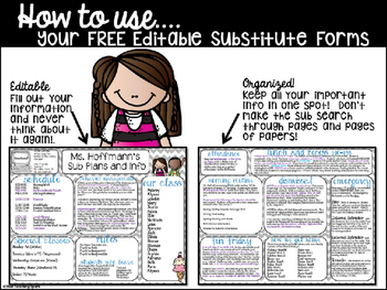 Free Editable Substitute Forms