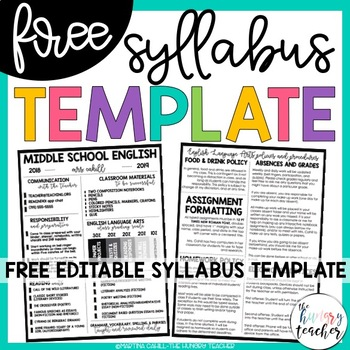 Free Editable Syllabus Template