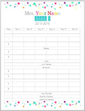 Editable Timetable Schedule