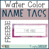 Free Editable Watercolor Name Tags