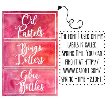 Free Editable Watercolor Labels