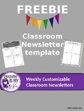 Free Editable Weekly Classroom Newsletter Templates