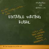 Free Editable Writing Rubric
