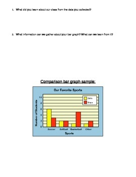 Free! Editable bar graph worksheet (gifted and normal)