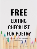 Free Editing Checklist for Poetry