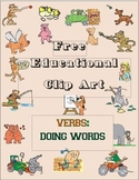 Free Educational Clip Art - Verbs - Doing Words