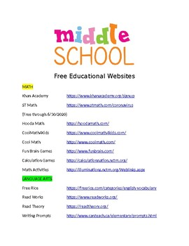 Educational Websites to Send Home For Summer Learning