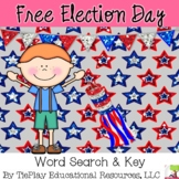 FREE Election Day Word Search and Key Social Studies Vocabulary Worksheet