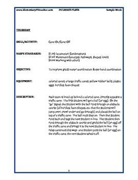 Free Elementary PE Lesson Plans