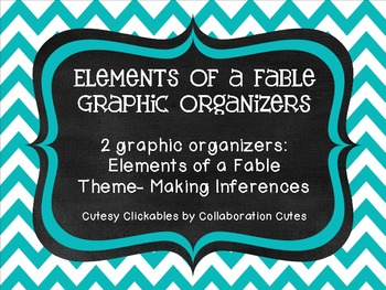 Free Elements of a Fable Graphic Organizers