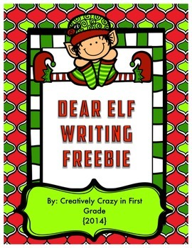 Free Elf Letter Writing Freebie