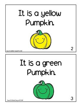 Free Emergent-Reader Book for Fall to practice sight and color words