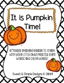 Free Emergent-Reader Book for Fall to practice sight and c