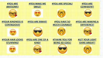 Free Emoji #Hashtag Confidence Builders